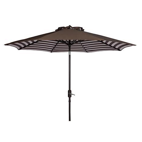Safavieh Athens Inside Out 9' Crank Outdoor Umbrella