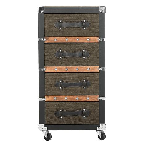 Safavieh Brent 4-Drawer Rolling Chest