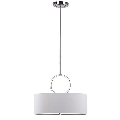 "Safavieh Debonair 3-Light 18"" Drum Adjustable Pendant"