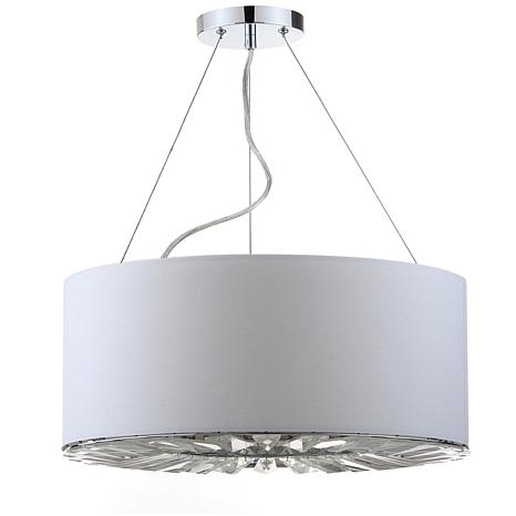 "Safavieh Fernando 3 Light  17-1/2"" Adjustable Drum Pendant - Chrome"