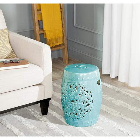 Safavieh Flora Ceramic Garden Stool   Blue