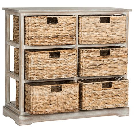 Beau Safavieh Keenan 6 Wicker Basket Storage Chest   8328113 | HSN