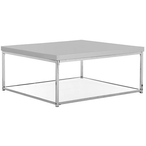 Safavieh Malone High Gloss Coffee Table   Chrome Finish   8523994 | HSN