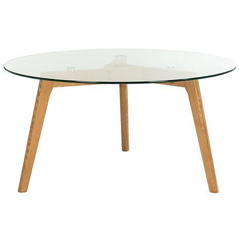 Safavieh Marjoram Round Glass Coffee Table