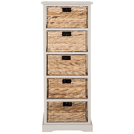 Genial Safavieh Vedette 5 Wicker Basket Storage Chest   8328112 | HSN