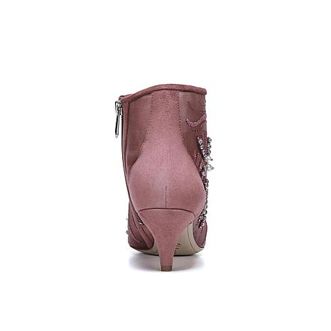 c9672570f9ed5d Sam Edelman Embroidered Kami Bootie with Suede Trim - 8770857
