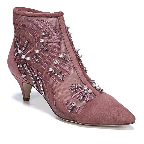 Sam Edelman Embroidered Kami Bootie with Suede Trim