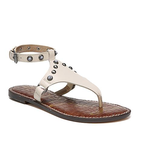 d1168687d Sam Edelman Galena Ankle-Strap Leather Sandal with Studs - 8620187