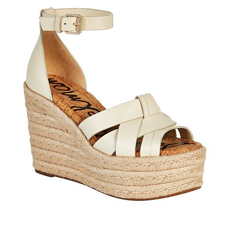 Sam Edelman Marietta Leather and Jute Wedge Sandal