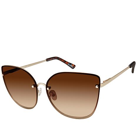Sam Edelman Oversized Glam Cateye Metal Sunglasses