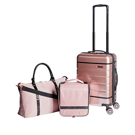 Samantha Brown 3-piece Hardside Spinner, Satchel & Cosmetic Case