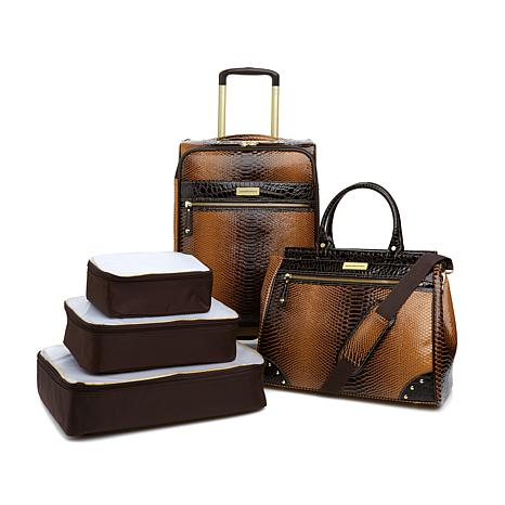 Samantha Brown Embossed Ombré 5pc Classic Luggage Set
