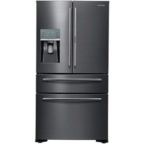 Samsung 22 CF French Door Refrigerator -Black Stainless
