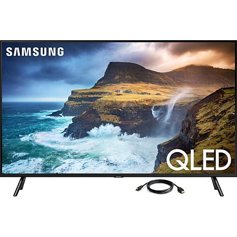 """Samsung 4K QLED 75"""" Smart Flat Television with 6' HDMI Cable"""