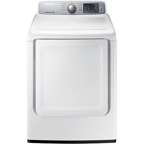 Samsung 7.4 cf Top-Load Dryer with Sensor Dry - White
