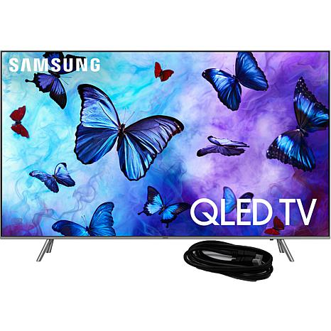 """Samsung Q6FN 75"""" QLED Flat 4K TV with 6' HDMI Cable"""