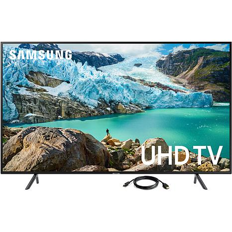 "Samsung RU7100 43"" LED Flat 4K UHD Television with 6' HDMI Cable"