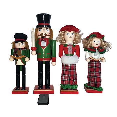 """Santa's Workshop 10""""-14' Set of 4 Nutcracker Caroler Figurines"""