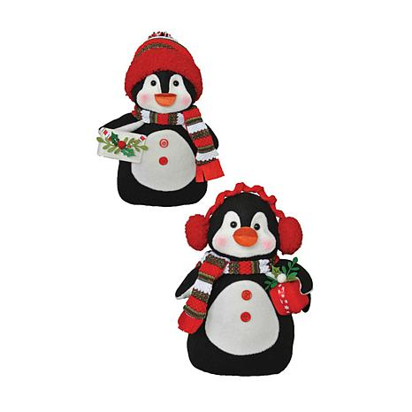 Santa's Workshop 10' Merry Penguins Figurines