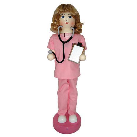 Santa's Workshop 14' Nurse Nutcracker Figurine