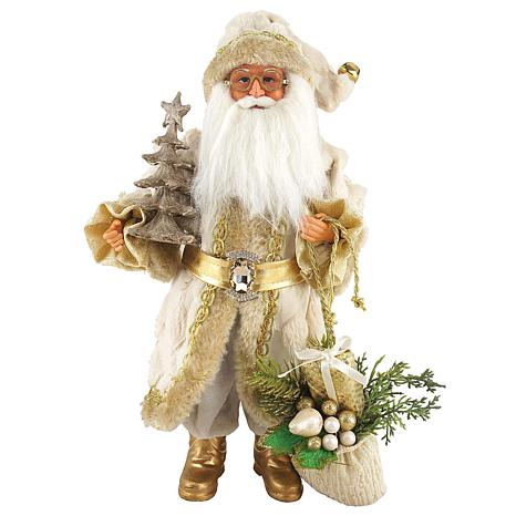 Santa S Workshop 15 Golden Splendor Claus Figurine 8497417 Hsn