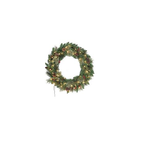 "Santa's Workshop 30"" Berry & Pine Cone Artificial Wreath"