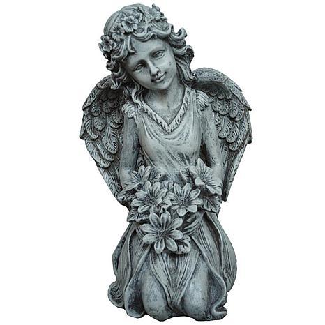 Santa's Workshop Grey Fairy Statue