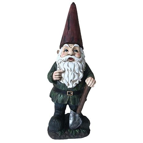 Santa's Workshop Resin Gnome with Shovel