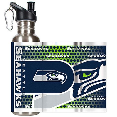 e95df34552 Seattle Seahawks Stainless Steel Water Bottle with Metallic Graphics -  7570735 | HSN
