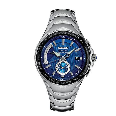 Seiko Men's Coutura Stainless Steel Blue Dial Chronograph Watch