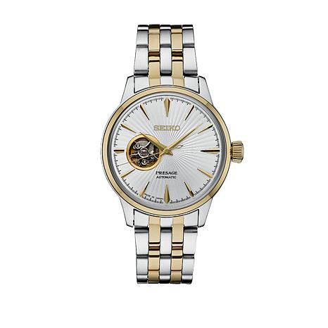 53e97a127 Seiko Men's Presage 2-Tone Stainless Steel Automatic Watch - 8570264 | HSN