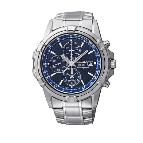 Seiko Men's Silvertone Chronograph Bracelet Watch