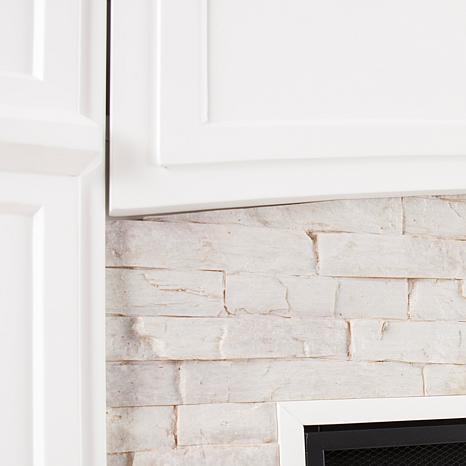 Southern Enterprises Seneca Electric Media Fireplace White with