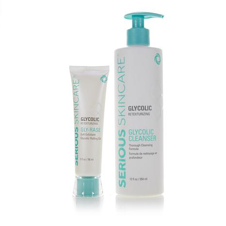 Serious Skincare Glycolic Cleanse and Erase Duo