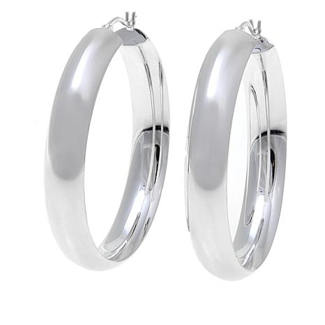 "Sevilla Silver™ 1-1/2"" Diameter Hoop Earrings"