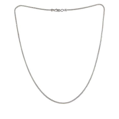 "Sevilla Silver™ 18"" Wheat Chain Necklace"