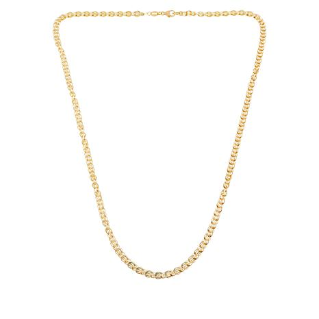 """Sevilla Silver™ 20"""" Gold-Plated """"3-D"""" Oval Chain"""