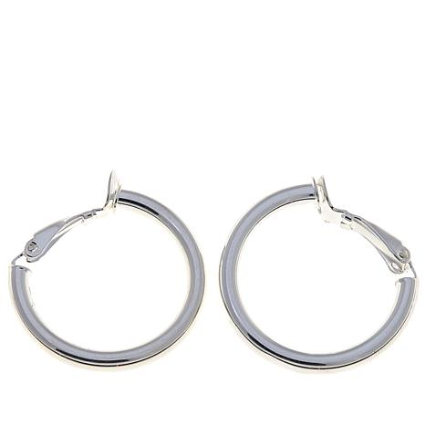 Sevilla Silver 25mm Clip On Hoop Earrings
