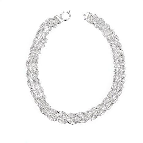 "Sevilla Silver™ 3-Strand Rope Chain 18"" Necklace"