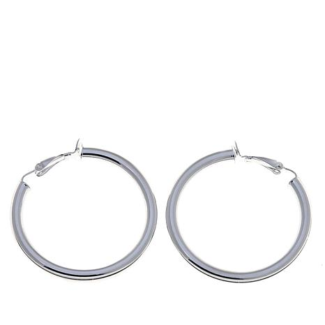 Sevilla Silver™ 40mm Clip-On Hoop Earrings
