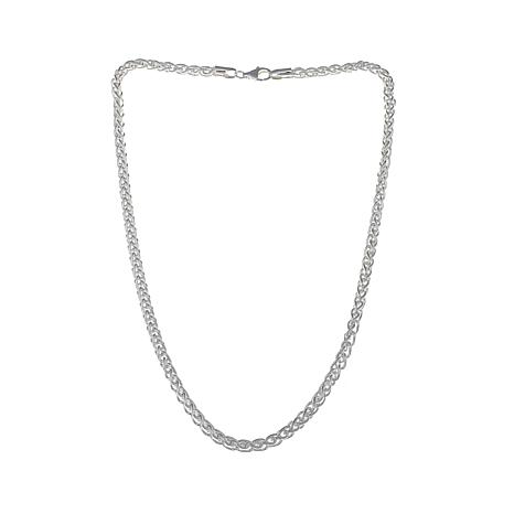 "Sevilla Silver™ 5mm Wheat Chain 18"" Necklace"