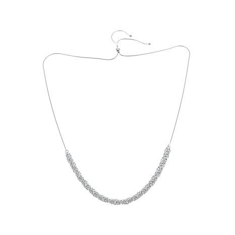 Sevilla Silver™ Adjustable Byzantine-Link Necklace