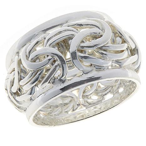 Sevilla Silver™ Byzantine Band Ring