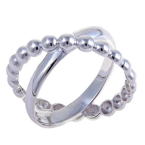 Sevilla Silver™ Crisscross Bead Negative Space Ring