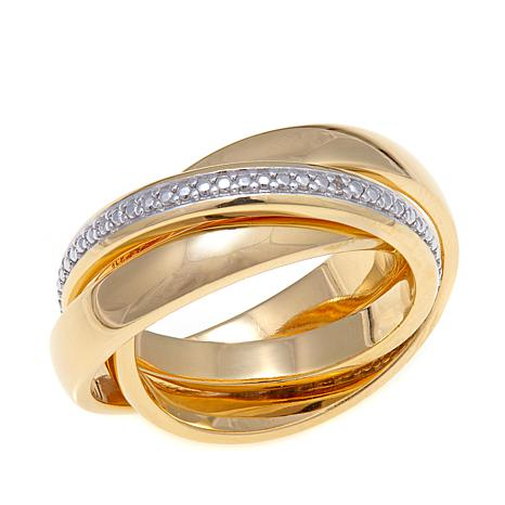 Sevilla Silver™ Diamond-Accented Rolling Ring