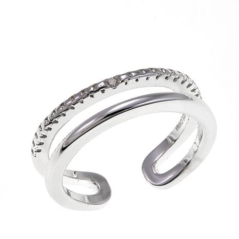 Sevilla Silver™ Diamond-Accented Toe Ring