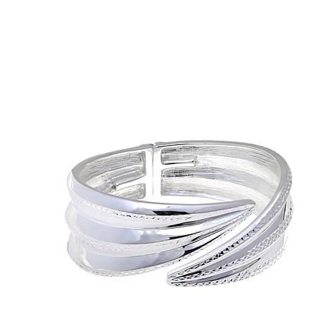 Sevilla Silver™ Diamond-Cut & High-Polish Bypass Bangle