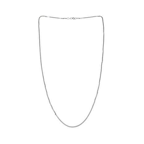 """Sevilla Silver™ Diamond-Cut Box Chain 20"""" Necklace"""