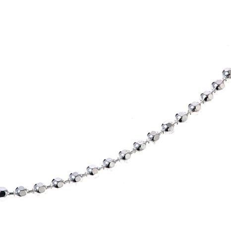 "Sevilla Silver™ Diamond Cut Shot Bead 18"" Necklace"