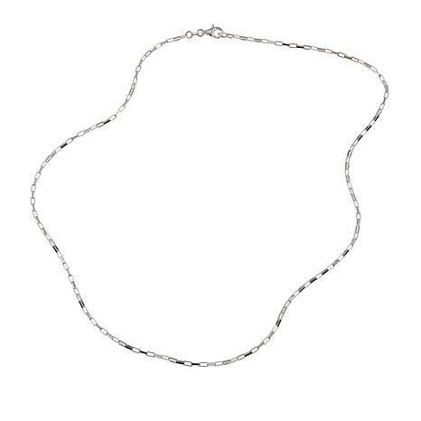 """Sevilla Silver™ Elongated Box Chain 18"""" Necklace"""